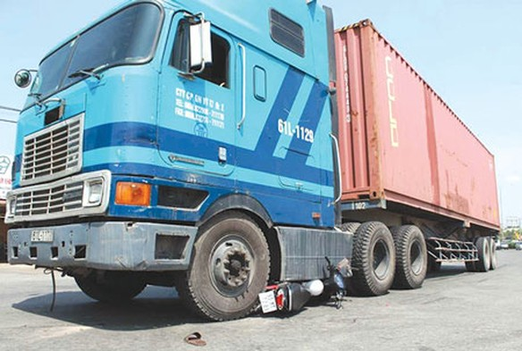 Một vụ tai nạn xe container